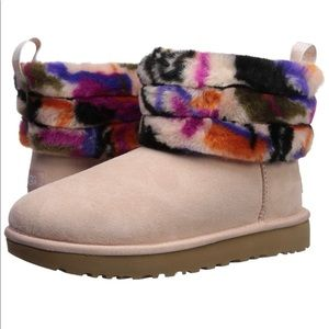 Women's Fluff Mini Quilted Motlee Fashion Boot